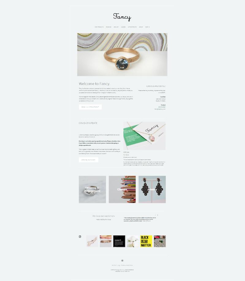 heyfancy.com homepage capture