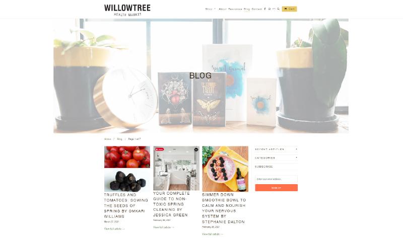 Willowtree Market blog