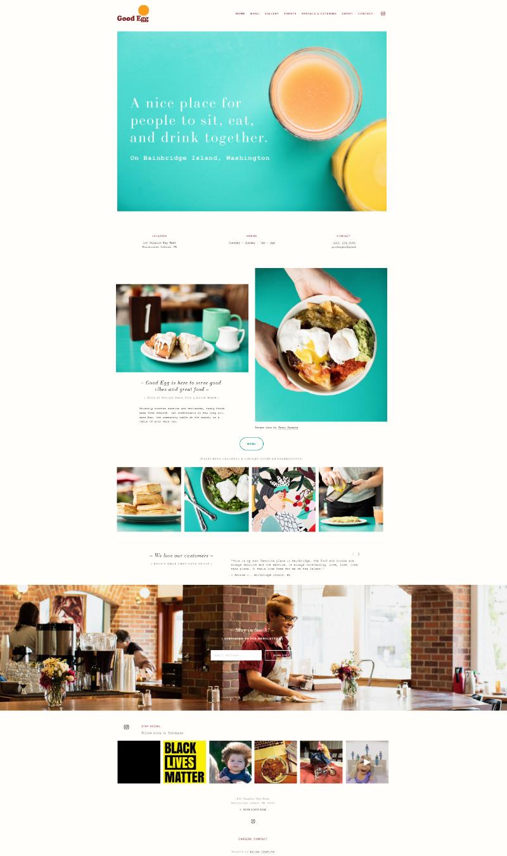 Homepage capture of Good Egg website